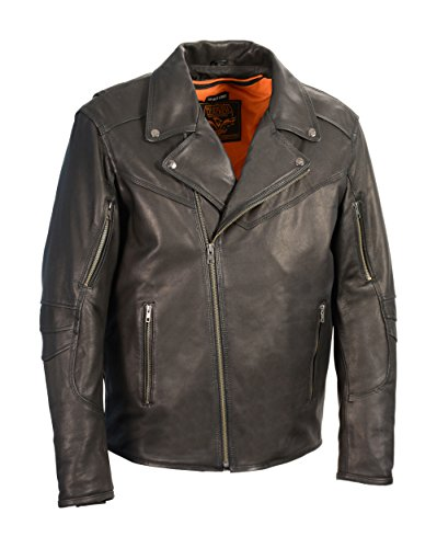 SHAF Milwaukee Leather Men's Vented Updated Motorcycle Ja...