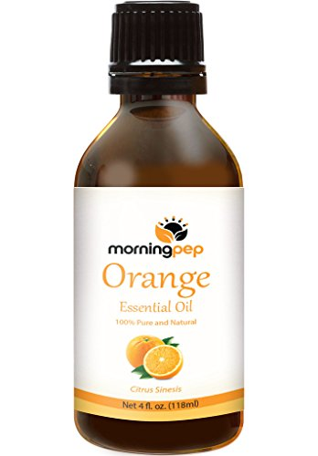 Morning Pep ORANGE OIL 4 OZ Large Bottle 100 % Pure And Natural Therapeutic Grade , Undiluted unfiltered and with no fillers, no alcohol or other additives , PREMIUM QUALITY Aromatherapy ORANGE Essential oil (118 ML) Happy with Your purchase or Your Money