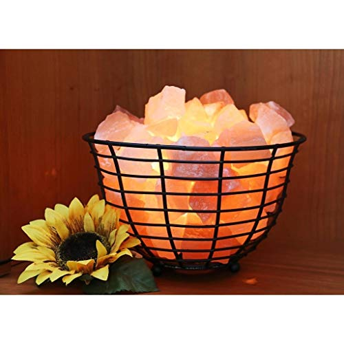 Manhattan Comfort Accentuations by 9-inch Himalayan Wired Basket Lamp with Natural Rocks by Manhattan Comfort (Image #4)
