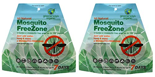 Greenerways Organic Mosquito Repellent Zone – New Improved Formula, Natural Backyard Insect Repellent Outdoor Mosquito…