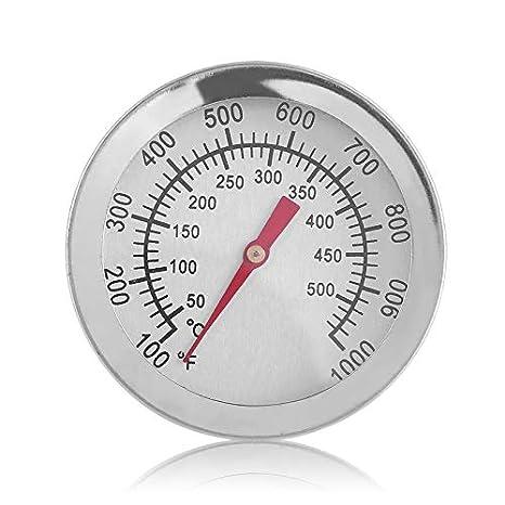 Wenwenzui-ES Termómetro para Horno de Acero Inoxidable, Lectura Fácil, 50º a 500ºC, 100º a 1000ºF, Mantenga la Comida Cocción + Temperatura de Horneado: ...
