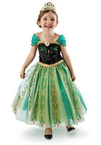 About Time Co Princess Girls Snow Queen Green Fancy Dress Halloween Costume Party Outfit (7-8 Years) -