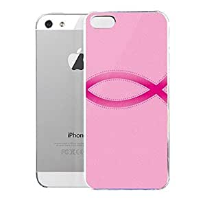 phone covers Light weight with strong PC plastic case for iPhone 5c Lifestyle Religious Ichthus Pink WANGJING JINDA