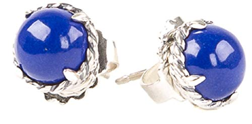 Silver Sterling Chatelaine (David Yurman Women's Sterling Silver Chatelaine Earrings 10mm Lapis Lazuli)