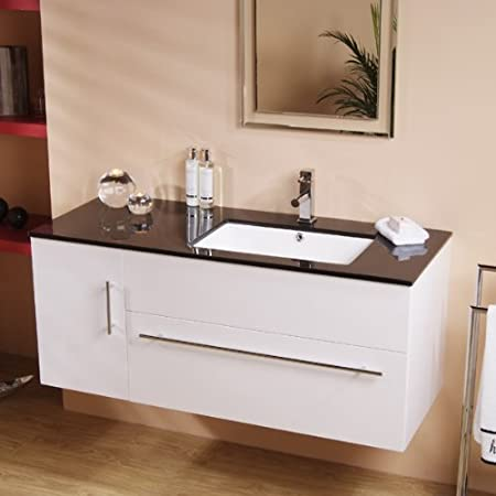 48 Vanity Unit With Basin For Bathroom Ensuite Wall Hung Soft Fascinating Inset Bathroom Cabinets Interior