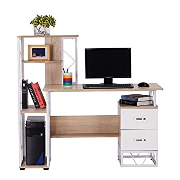 Homcom scrivania pc di design archivio ufficio e for Accessori scrivania design