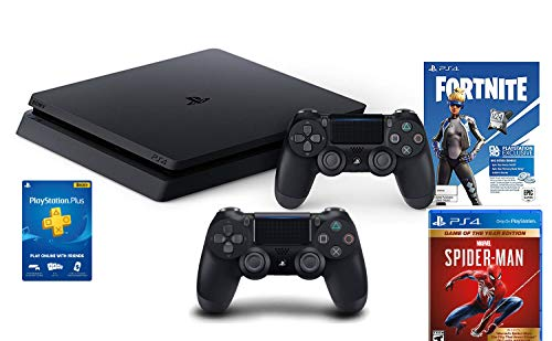 Holiday Family Bundle SonyPlaystation 4 1TB Slim- Jet Black