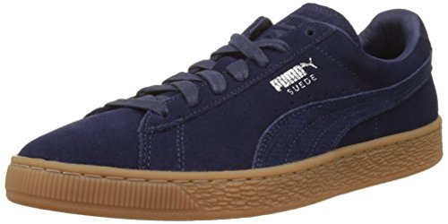Puma Unisex Adults' Suede Classic Citi Low-Top Sneakers, Black, One Size Fits All Blue (Peacoat-puma Silver 04)