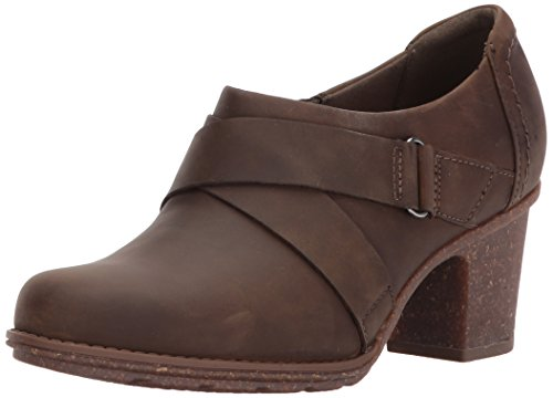 Clarks Dames Sashlin Fiona Fashion Laars Olijfleder