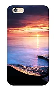 Hot Coast Shore Beaches Stone Rock Ocean Sea Water Sky Clouds Sunset Sunrise Reflection First Grade Tpu Phone Case For Iphone 6 Case Cover Kimberly Kurzendoerfer
