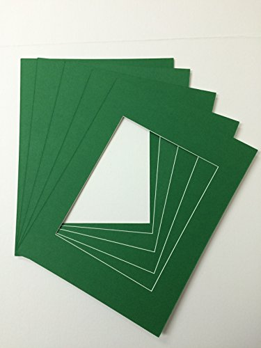 Pack of 10 11x14 Bright Green Green Picture Mats Cut for 8x10 Pictures