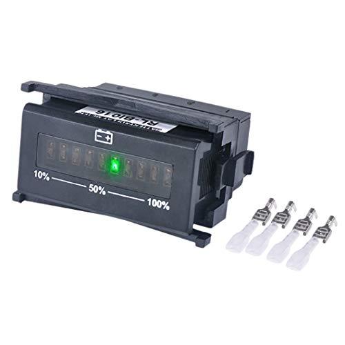 Noblik Bi016 Battery Gauge Battery Agm Gel Volt Meter Battery Indicator With Hour Meter For Motorcycle Atv:
