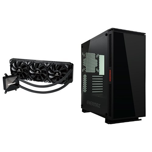 Enermax LIQTECH TR4 360mm AIO Liquid CPU Cooler Exclusive for AMD Threadripper with EQUILENCE Silent Tempered Glass Computer Chassis