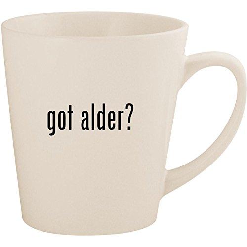 Got Alder?   White 12oz Ceramic Latte Mug Cup