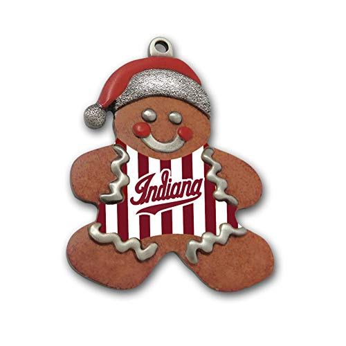 Stripes Gingerbread - Indiana Metal Craft IU Candy Stripe Gingerbread Man Gallery Print Pewter Ornament