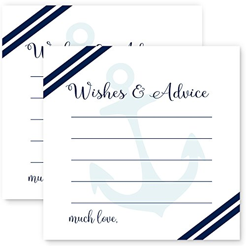 (Nautical Advice Cards for Baby Shower or Wedding 25)