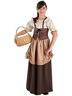 3928a702db Disfraz de Campesina Medieval Carlota para niña  Amazon.es  Juguetes ...