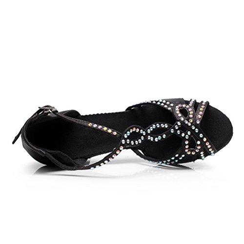Cxs Ladies Open Toe Boda Fiesta Tacones Zapatos De Baile De Salón Para Salsa Blackgo And Practice, 2.75 Heel