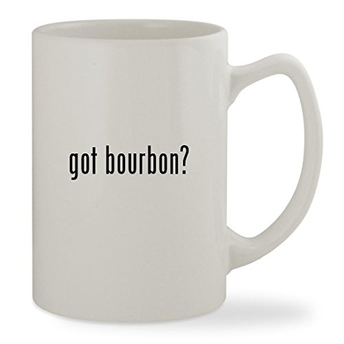 got bourbon? - 14oz White Statesman Sturdy Ceramic Coffee Cup - Trace Whiskey Bourbon Kentucky Buffalo Straight