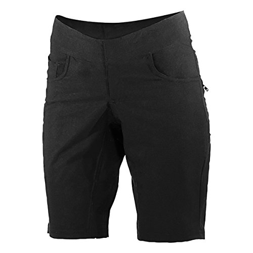 (SHEBEEST Skinny Americano/Plus Shorts (Large) Black)
