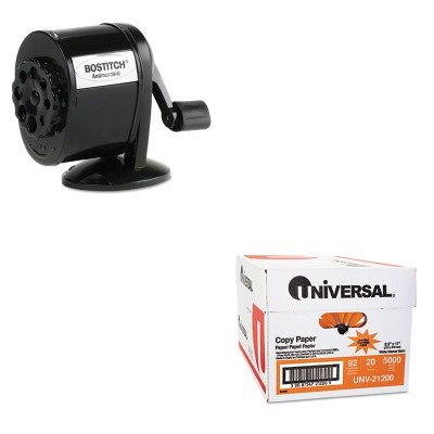 KITBOSMPS1BLKUNV21200 - Value Kit - Stanley Bostitch Table-Mount/Wall-Mount Antimicrobial Manual Pencil Sharpener (BOSMPS1BLK) and Universal Copy Paper (UNV21200)