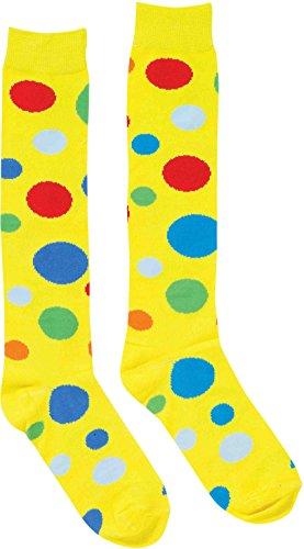 (Forum Novelties Clown Socks for Adults – Polka Dots Pattern Stockings – One)