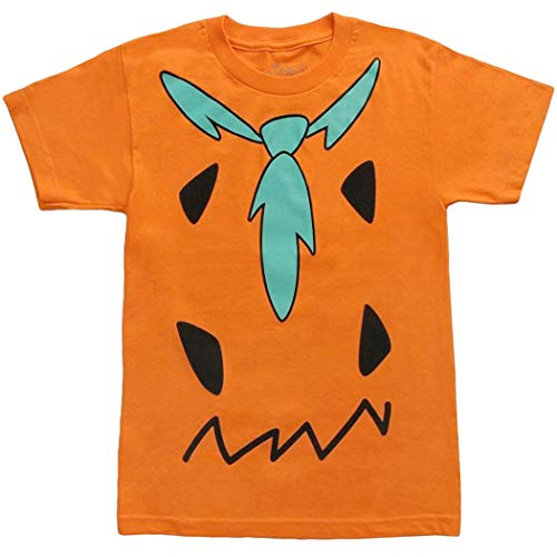 Animation Shops The Flintstones Fred Costume Adult T-Shirt-Large Orange]()