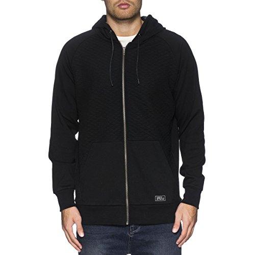Globe Mens Hoodie (Globe Mens Quilt Hoody Zip Sweatshirt X-Large Black)