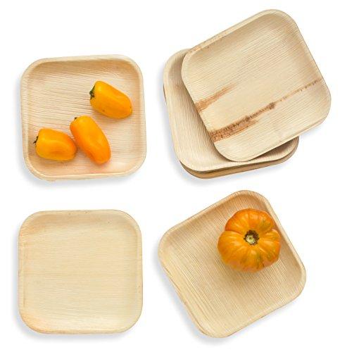 Leafily Palm Leaf Plates - 7 inch Square