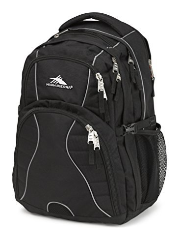High Sierra Swerve Laptop Backpack, Black [並行輸入品] B07FGFWRTR