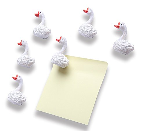 Goose Magnet - Mymazn Goose Magnets for Whiteboard, Refrigerator, Map and Calendar Fun Decoration (Goose 6)