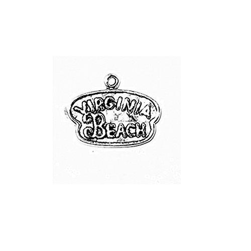 Sterling Silver Heavy Virginia Beach Travel Charm Item #3656