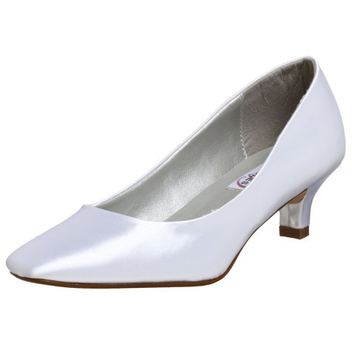 Dyeables Women's Abbey Pump,White,9 M ()