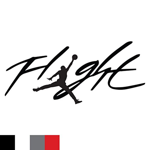 Flight Jordan Jumpman Logo Huge 23 AIR Decal Sticker for Automobile Room Car Window Tablet PC Computer Wall Laptop Notebook Ipad (5.5