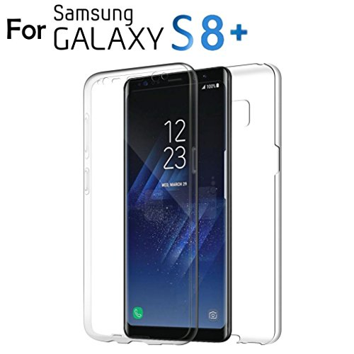Case for Samsung Galaxy S8 Plus,YJM For Samsung Galaxy S8 Plus 360° Clear TPU Full Body Cover Case Skin
