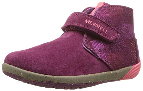 - Merrell Girls' Bare Steps Boot Chukka Fashion, Berry, 9 Medium US Toddler