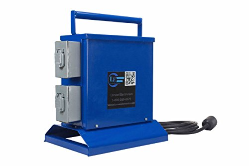 Temporary Transformer - 5KVA- 240V to 120V - (4) 20A GFCI Duplex Outlet - 40A Circuit Breaker (Transformer 120v Duplex)