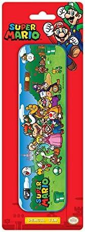 Nintendo - Estuche escolar metálico (Super Mario): Amazon.es: Oficina y papelería