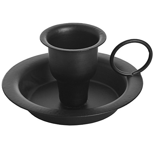 Black Wrought Iron Candle Holder (One Size) (Black)
