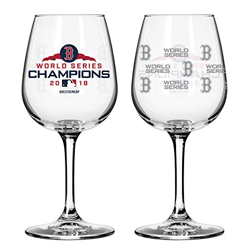 Boston Redsox 2018 World Series Champions Wine Glass (Package Of One)