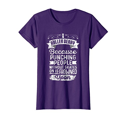 34c85711cf3ce Womens Roller Derby Super Thug Gift Tshirt Large Purple