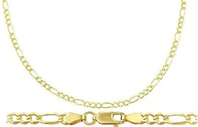 8fc8f8c48 Image Unavailable. Image not available for. Color: 14k Yellow Gold Bracelet  Figaro Link Solid Mens Womens ...