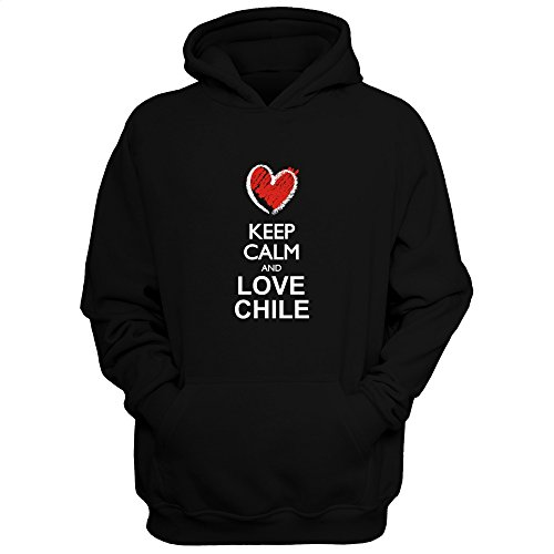Idakoos Keep Calm and Love Chile chalk Style - Countries - Hoodie