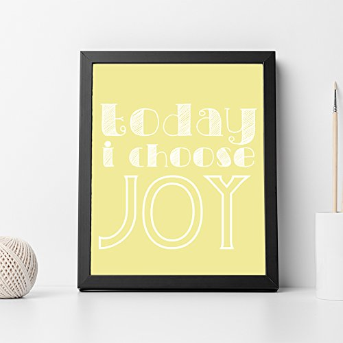 Amazon.com: Today I choose joy Quote Inspirational Quote Wall Art ...