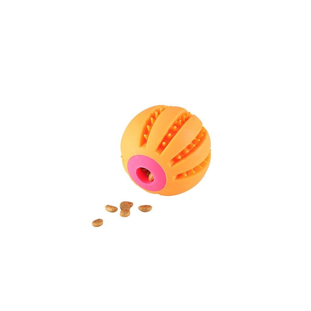 orange Goquik Pet Toy Dog Toy Pet Toy Small Leaking Food Ball Bite-Resistant Molar Dog Decompression Toy Pet Puzzle Supplies (color   orange)