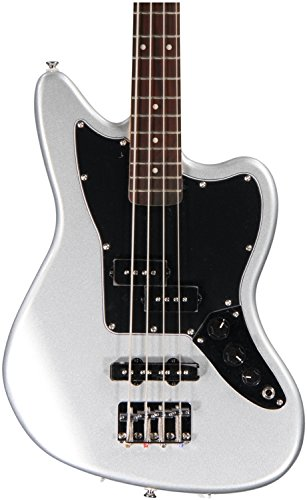 Squier by Fender 328800591 Vintage Modified Jaguar Special Short Scale Bass, Silver