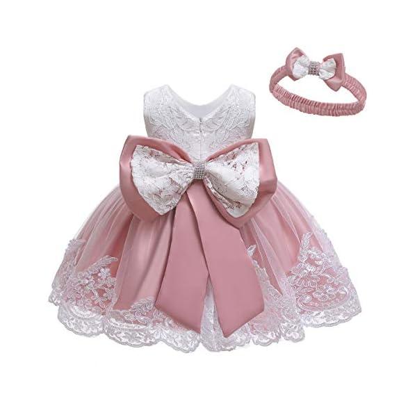 LZH Ragazza Gonna a Fiori in Pizzo 3D Senza Maniche Vestito da Principessa delle Feste 1
