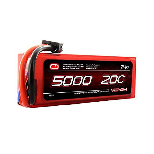 Venom 20C 2S 5000mAh 7.4V Hard Case LiPo Battery with ...