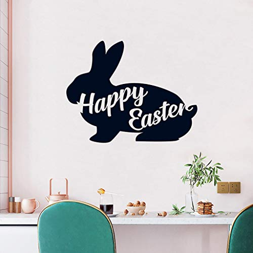 Pstars Wall Decals Removable Peel and Stick PVC Wall Stickers Easter Bunny Art Murals