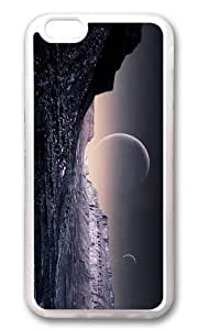 MOKSHOP Adorable fantasy planet surface Soft Case Protective Shell Cell Phone Cover For Apple Iphone 6 Plus (5.5 Inch) - TPU Transparent